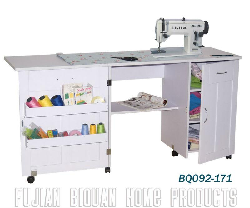 Bq ruedas m quina de coser de madera mesa con cajones - Mesa para maquina de coser ikea ...