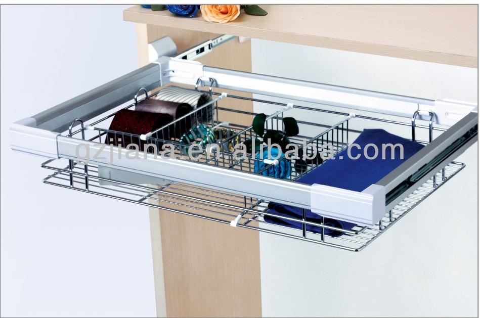 Wardrobe Sliding Wire Basket Drawer - Buy Wire Basket Drawer ...