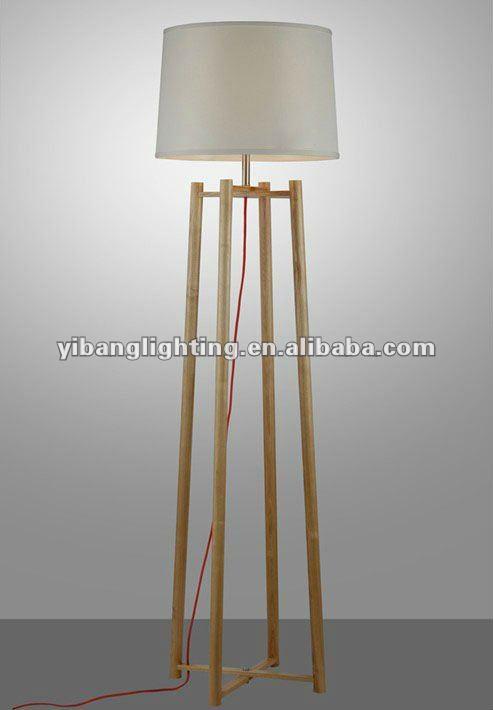 2012 New Modern Wood Floor Lamp,Handmade Wood Yf803