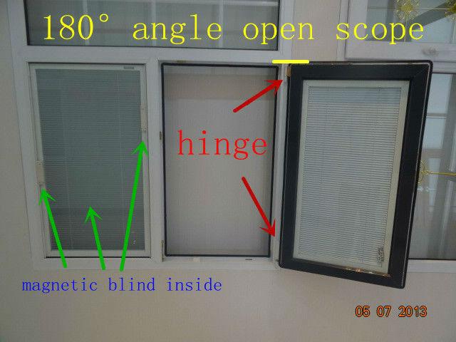 Side Hinged Window Swing And Hinged Windows 60 Series Pvc