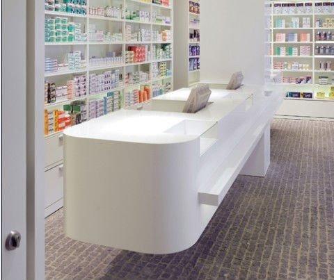 Glacier White New Design Modern Retail Shop Display Counter