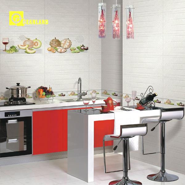 High Glossy White Ceramic Glazed Kitchen Tiles Buy