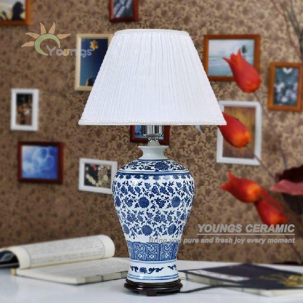 Wholesale chinese antique blue and white porcelain ceramic desk ...