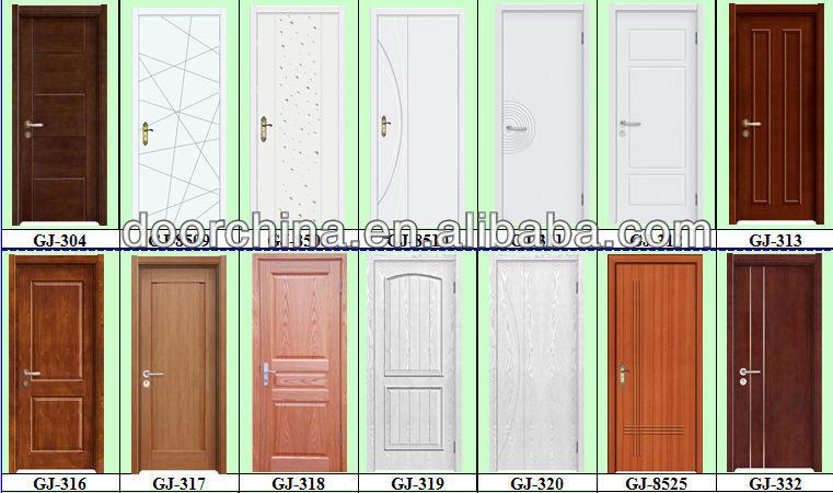 Front Interior Pvc Wooden Door Designer Doors Iron Peach Wood Color