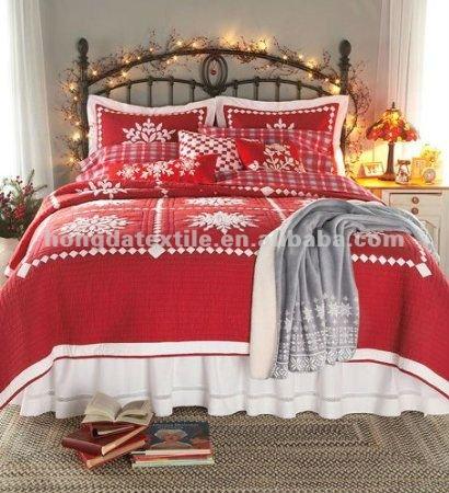 100 Katoen Bedrukt Sneeuwvlok Kerst Dekbed Set Buy