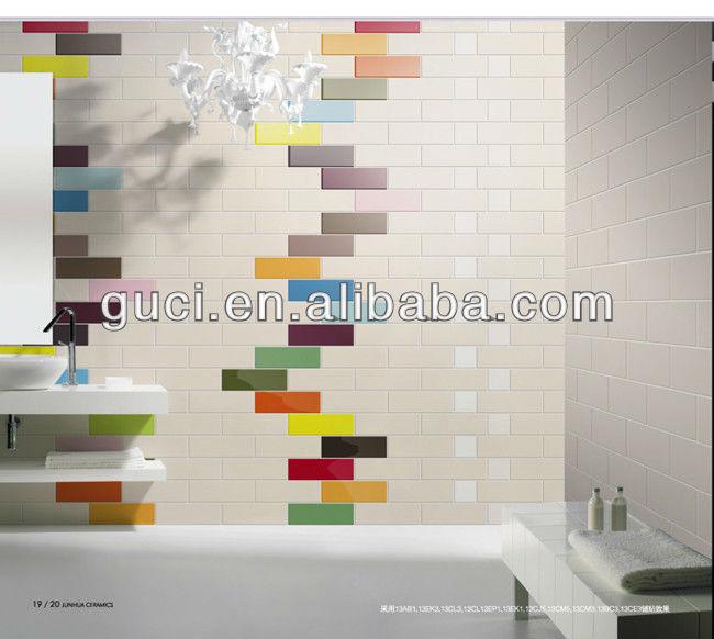 Colorato 100x300mm stanza da bagno piastrelle di ceramica - Piastrelle colorate per bagno ...