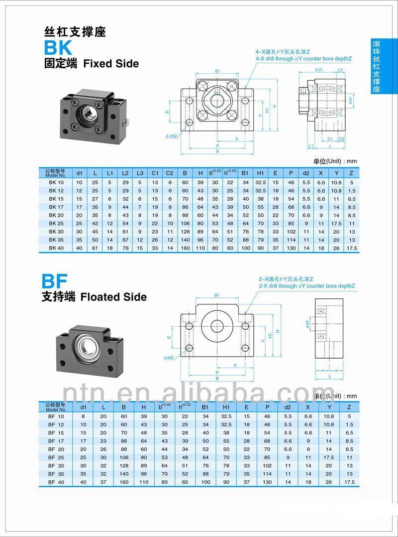 Fk Series Ballscrew Support Fk15 Fk17 Fk20 Fk25 Fk30 Buy