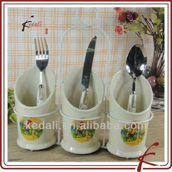 french style ceramic kitchen utensil holder - buy utensil holder