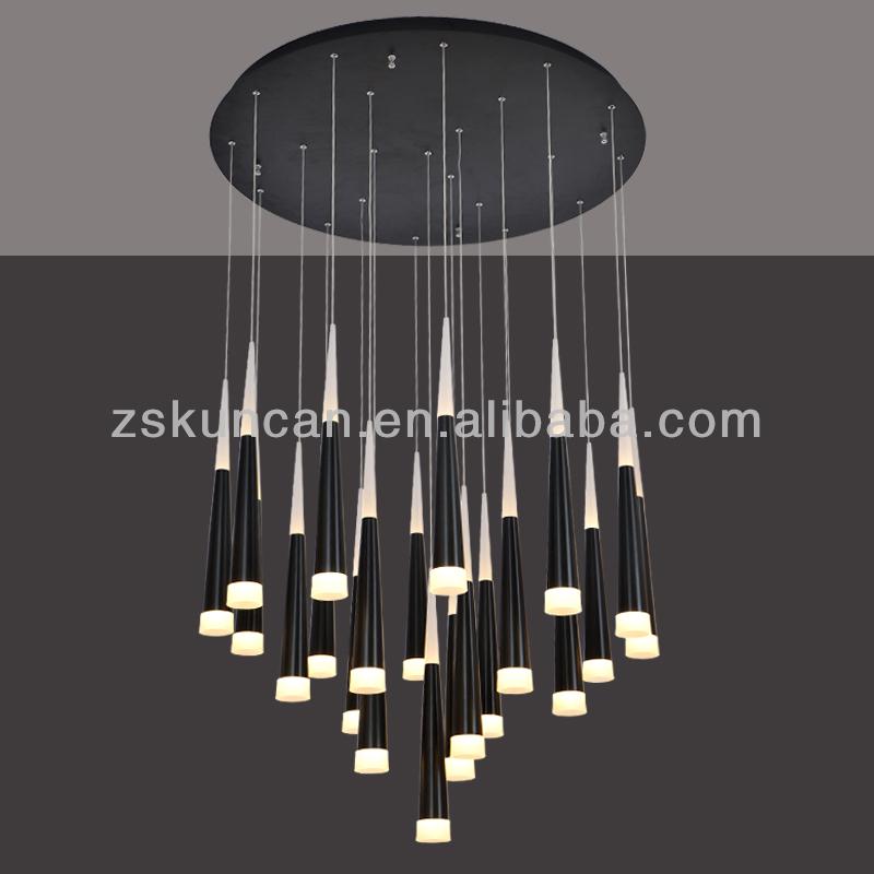 large cone shape led chandelier for hotel hallways buy. Black Bedroom Furniture Sets. Home Design Ideas