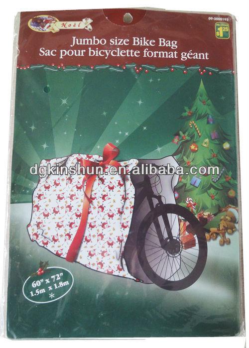 2016 Newest Christmas House Giant Bike Gift Wrap Bag Christmas