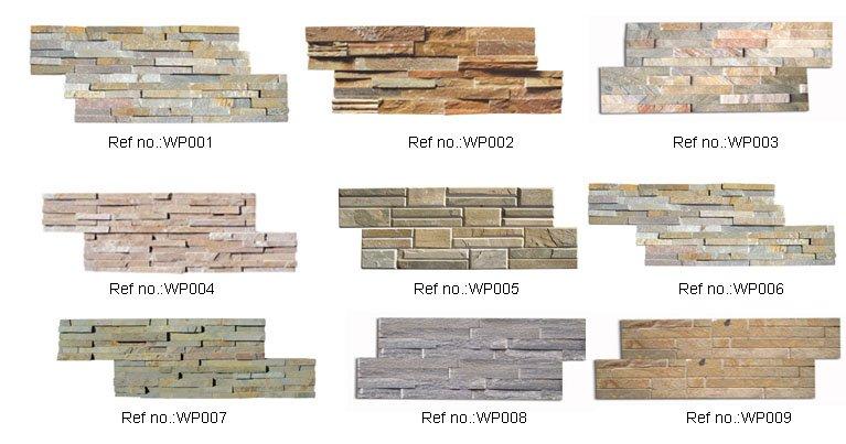 White Quartz Stacked Stone Tile