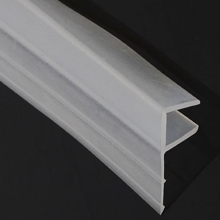 translucent magnetic glass shower door plastic seal strip