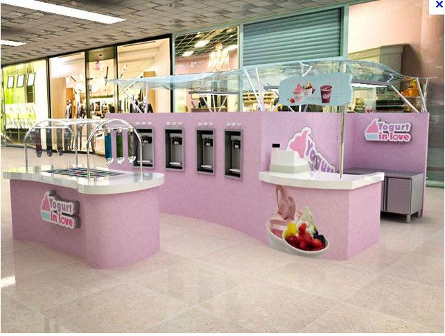 Vending Ice Cream Bar Counter For Food Kiosk Mall In Shop