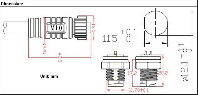 Rundschreiben Push- Pull Verriegelung Draht Stecker Und Steckdose ...