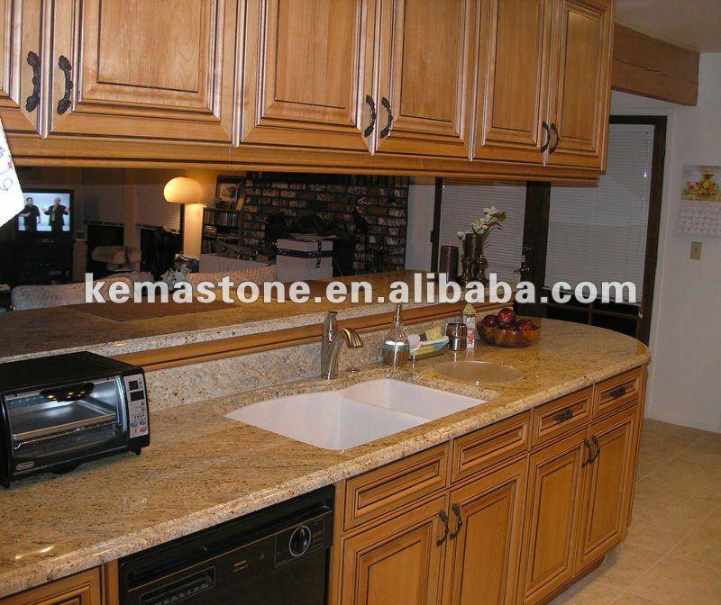 Kashmir Gold Granite Laminate Countertop Bar Top