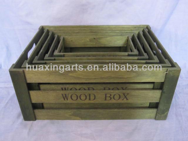 Wholesale cheap wooden crate wooden fruit crates for sale for Buy wooden fruit crates