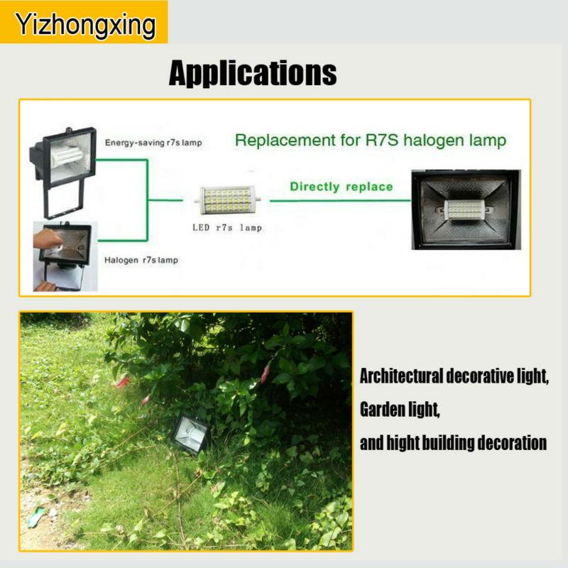 Newshine Led R7s 10w 15w Replace 100w 150w Halogen Lamps / 200w ...