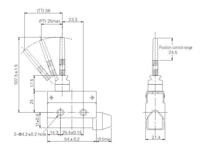 az 7166 flexible rodfor industrial use omron gear limit