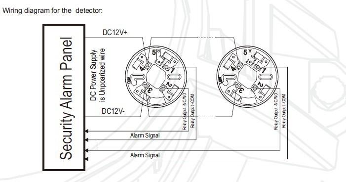 4 Wire Conventional Smoke Detector With Relay Output 12v 24v Smoke