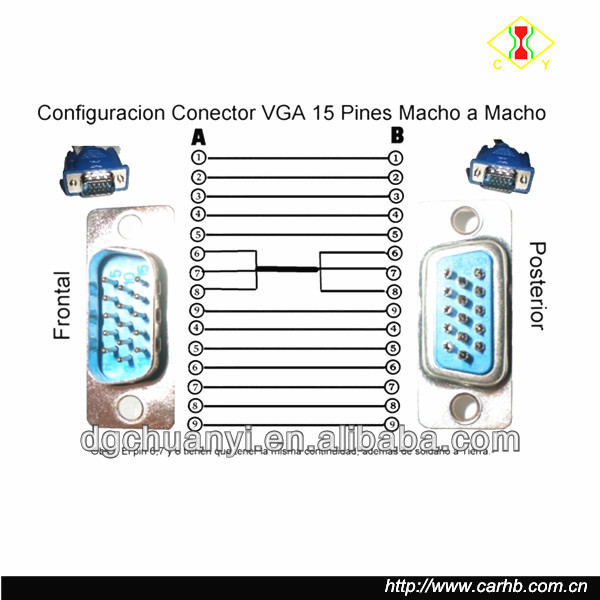 908371568_965 factory supply d sub male connector wiring diagram vga cable buy vga 15 pin connector diagram at creativeand.co