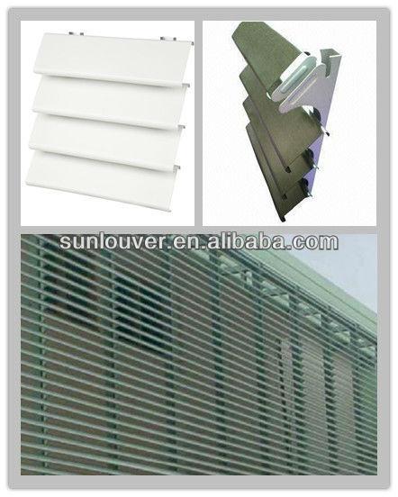 Airfoil Aerofoil Aluminum Profile Louver Blade