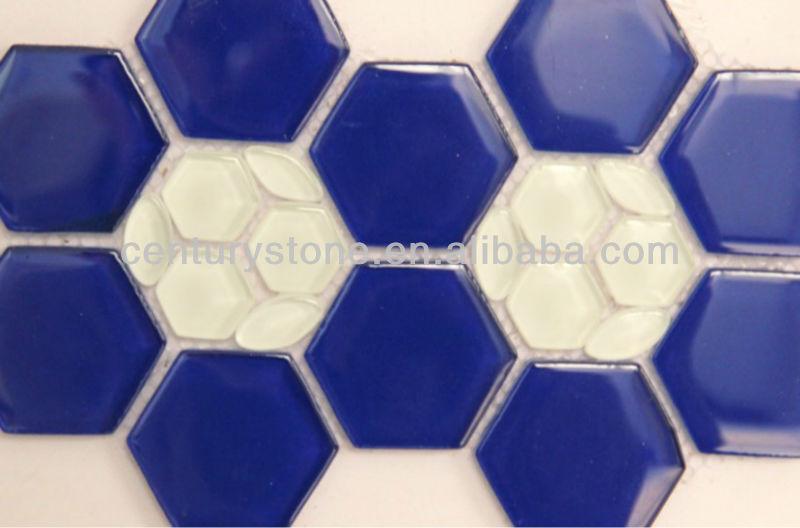 Bagno e cucina piastrelle di design libero esagono mosaico pattern