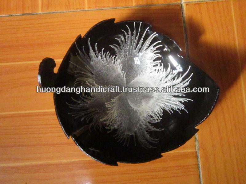 Egg Shell  Lacquer Ware Bamboo Bowl, Natural Color Bowl Eco Friendly,  Handmade Salad