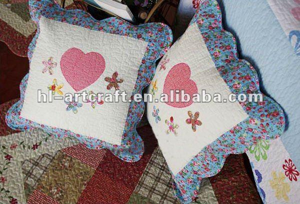 Heart applique cm patchwork cushion cc buy cushion