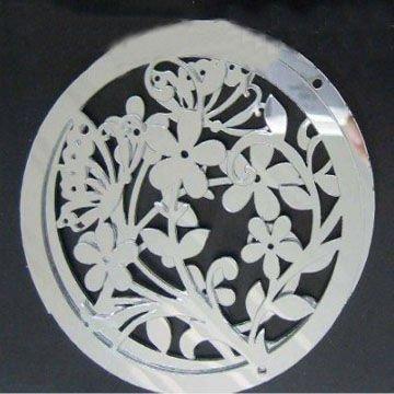 Acrylique et en plastique fleur forme d corative miroir for Miroir incassable ikea