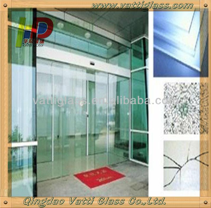 frameless folding glass frosted glass bathroom door soundproof glass door