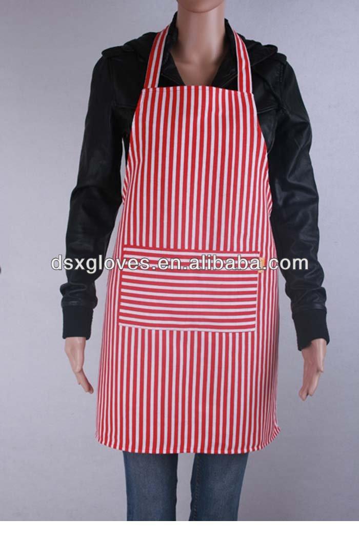 Adjustable Bib Apron For Men Chefs Striped Aprons