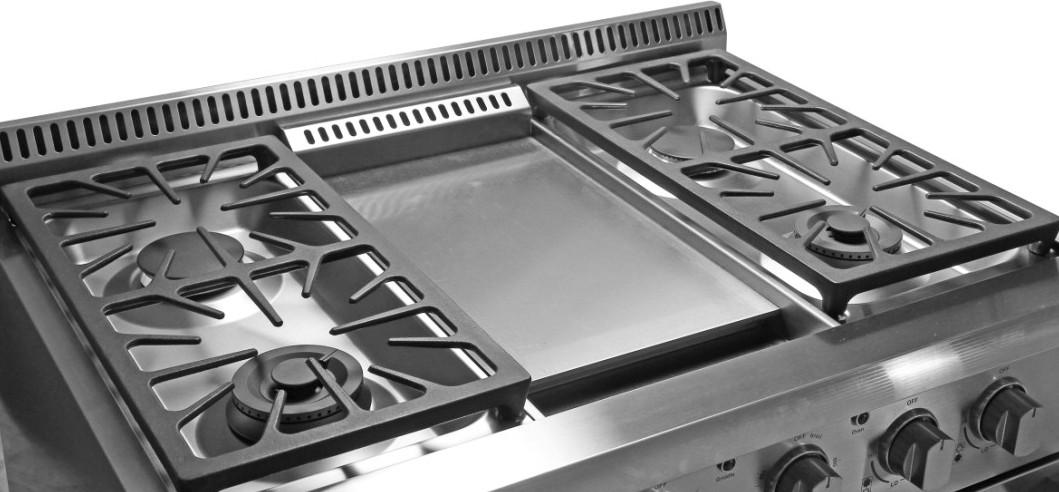 hyxion - thor kitchen 36 inch stainless steel gas range hrg3609u