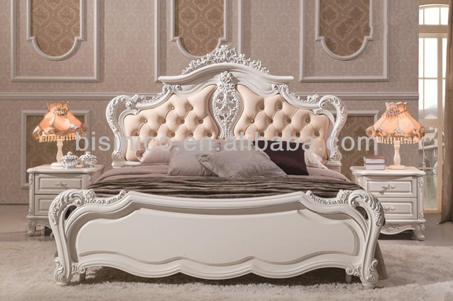 hand carved wood bedroom sets. princess lovely style fancy bed ,wooden hand carved soft bed, elegant solid wood bedroom sets /