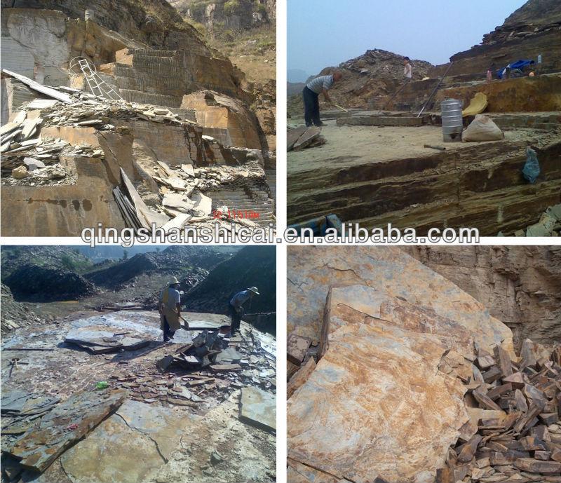 Gestapelde stenen tibetaanse leisteen natuurlijke gespleten un gemeten stenen muur tegel buy - Leisteen muur ...