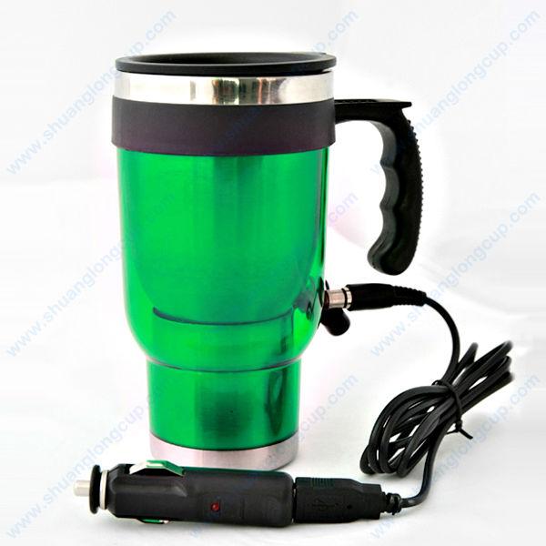 16 Oz 12v Electric Heated Mug For Travel Coffee Amp Tea