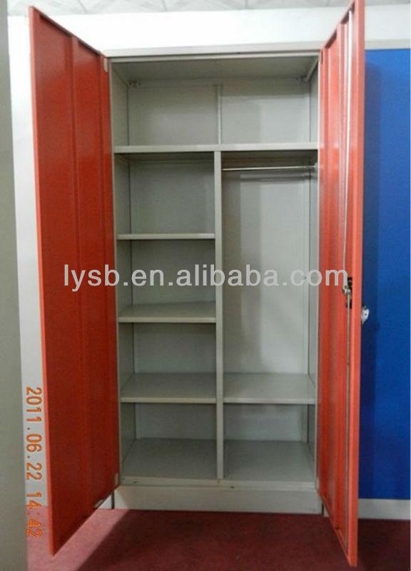 2 Door Steel Metal Clothing Storage Wardrobe Or Steel Wardrobe ...