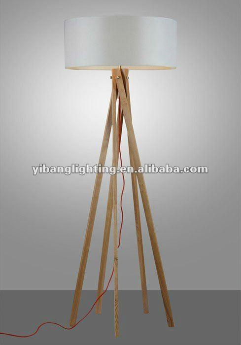 2012 Nouvelle Moderne Lampe De Plancher De Bois,Bois Faits À La ...