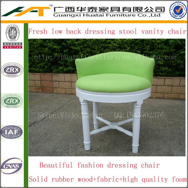 Green low back wooden dressing stool vanity chair fabric dressing chair  furnitureGreen Low Back Wooden Dressing Stool Vanity Chair Fabric Dressing  . Low Back Vanity Chair. Home Design Ideas