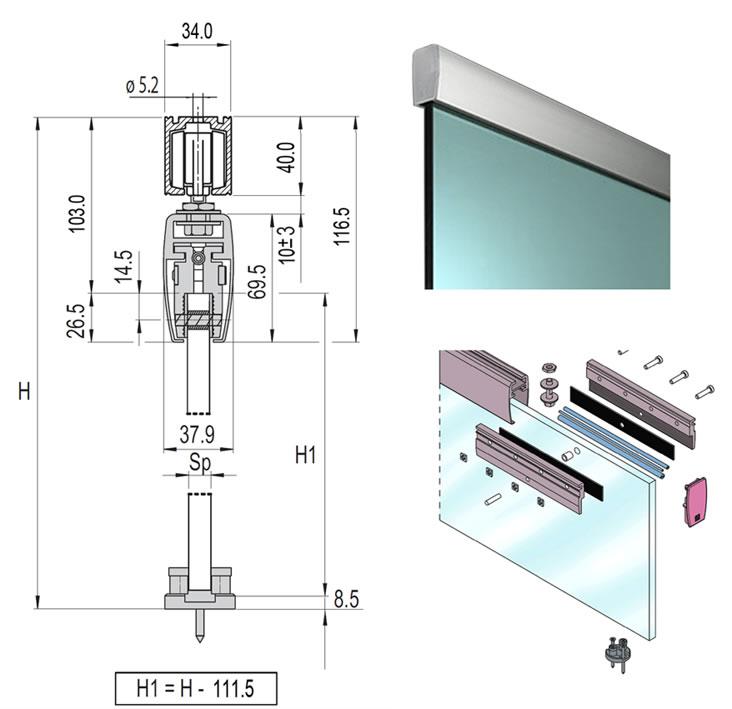 Glass Interior Sliding Barn Doors Aluminum Alloy Hardware