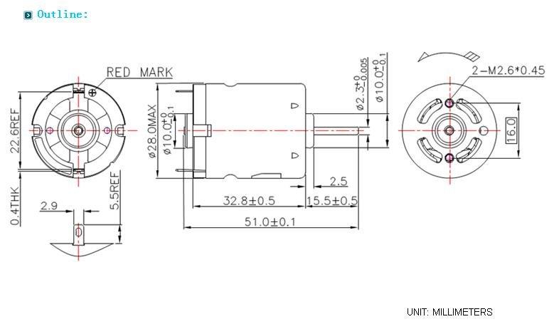 12v  24v dc electric fan motor