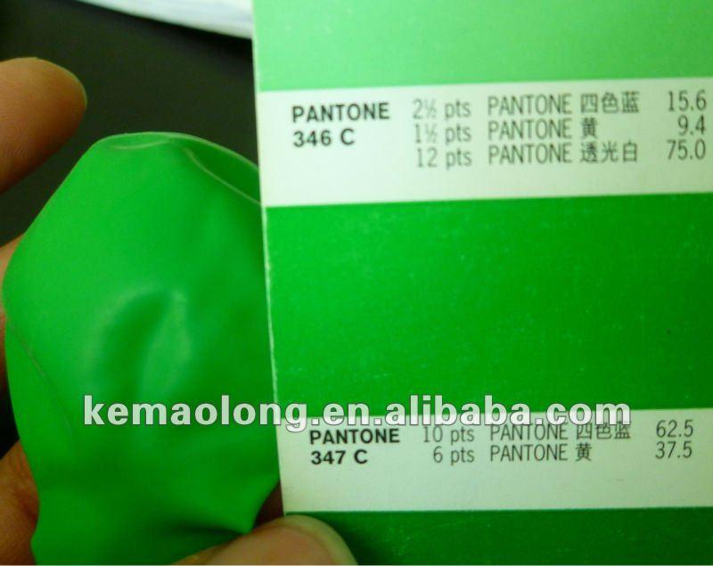 custom pantone standard green color pms c balloon