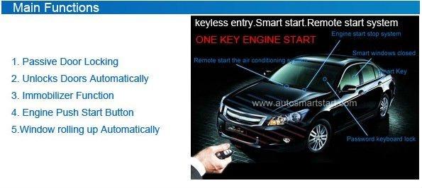 Rfid Car Alarm Passive Keyless Entry Engine Start Stop Button ...