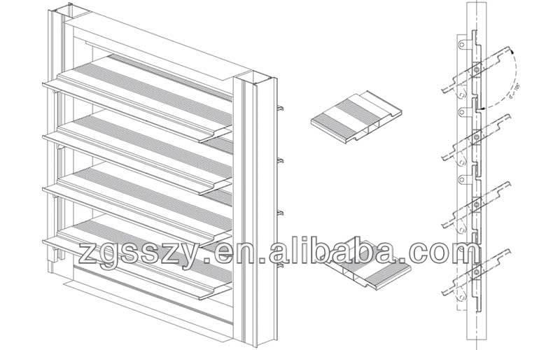 125mm Width Aluminum Extrusion Profile Sun Louver In Powder ...