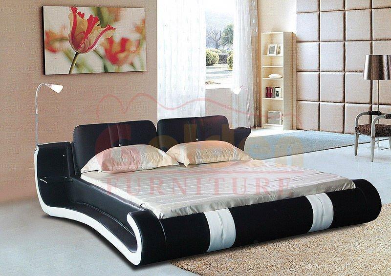 Led light beds on headboard f912 buy led light beds bed with lighted headboard big headboard for Latest home furniture designs india