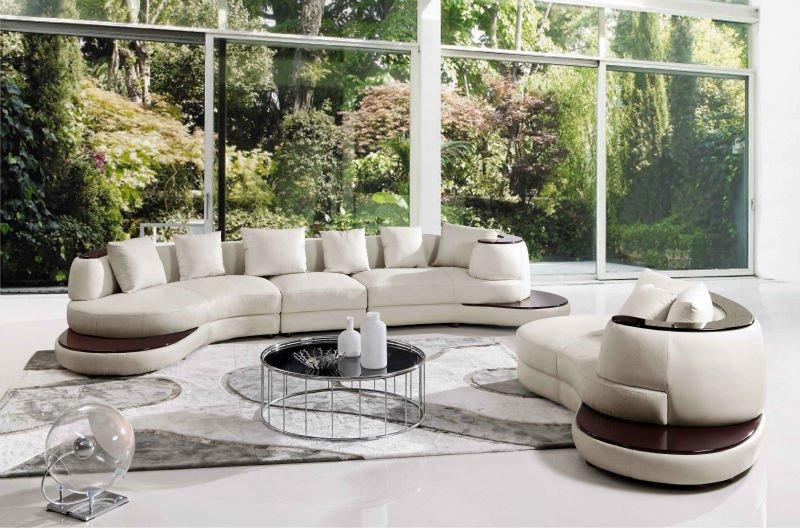 Evergo Modern Sectional Leather Sofa Set