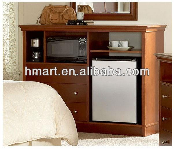 Solid Wood Microwave/fridge Cabinet - Buy Microwave/fridge Cabinet ...