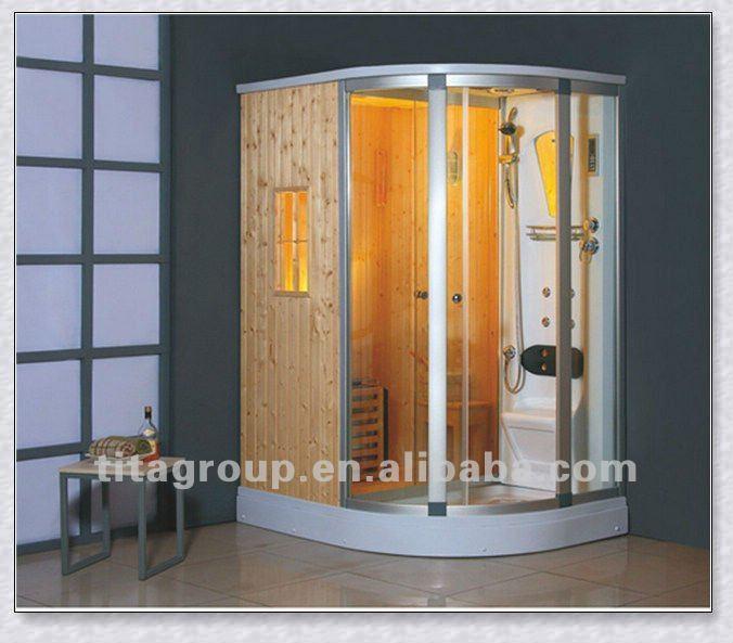 Vapor de madeira casa de banho sauna cabine de duche buy - Cabine sauna per casa ...