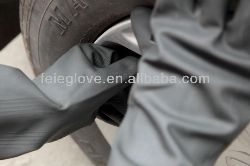 Sun Brand Industrial Latex Long Hand Work Rubber Gloves