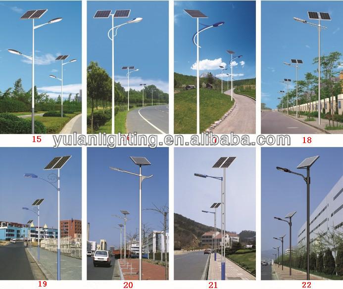 Q235 3m-35m Solar Light Post Caps X /solar Light Pole Mount ...