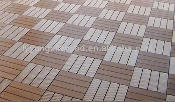 Wood Plasitic Composite Floor Tile Design For Garden